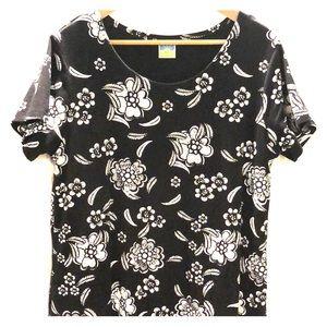 Floral pattern sweatshirt dress